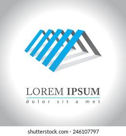 Abstract house logo sample, vector illustration