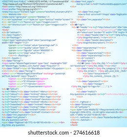 Abstract html code listing, vector background