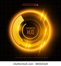 Abstract HUD futuristic background. Vector illustration EPS 10