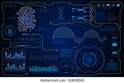 abstract hud interface ui hi tech screen security concept background template layout