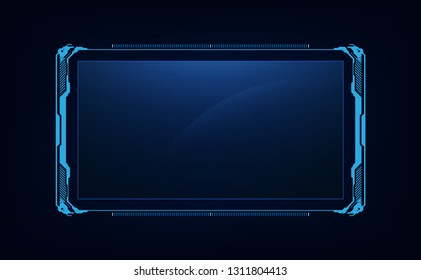 abstract hud ui gui future futuristic screen system virtual design