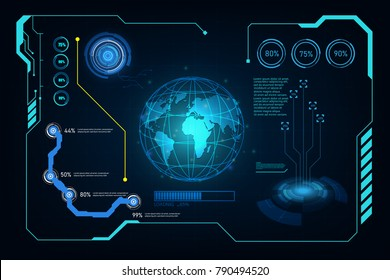 abstract hud ui gui future futuristic screen system virtual design background