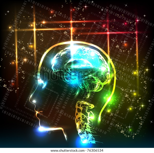 abstract human brain background design