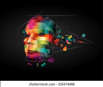 Abstract human face