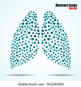 Abstract human lungs of colorful circles. Vector illustration. Eps 10