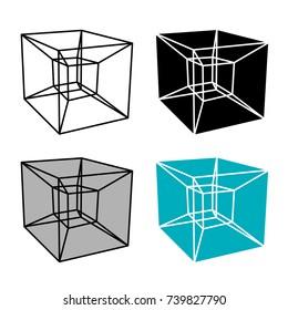 abstract hypercube simple symbol vector