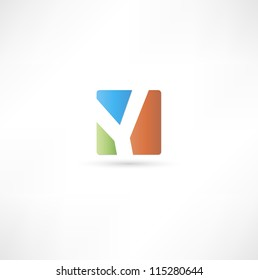 Abstract icon based on the letter Y