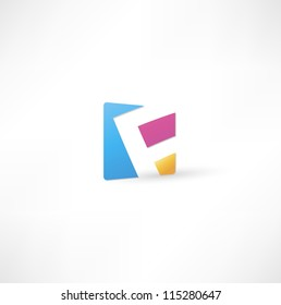 Abstract icon based on the letter F