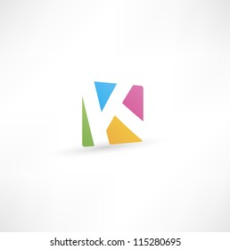 Abstract icon based on the letter K