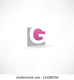 Abstract icon based on the letter G