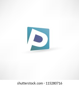 Abstract icon based on the letter P