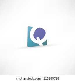 Abstract icon based on the letter Q