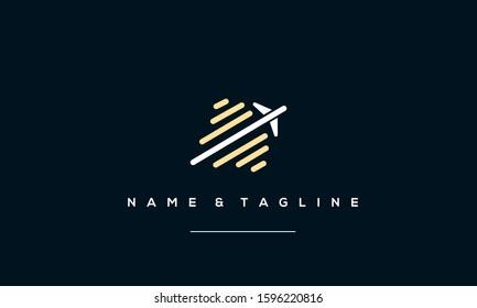 Abstract icon logo of a plane