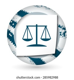 Abstract icon with paper and the symbol of lawyer