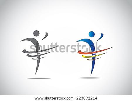 Abstract Icon Symbol Person Dancing Joy Stock Vector Royalty Free