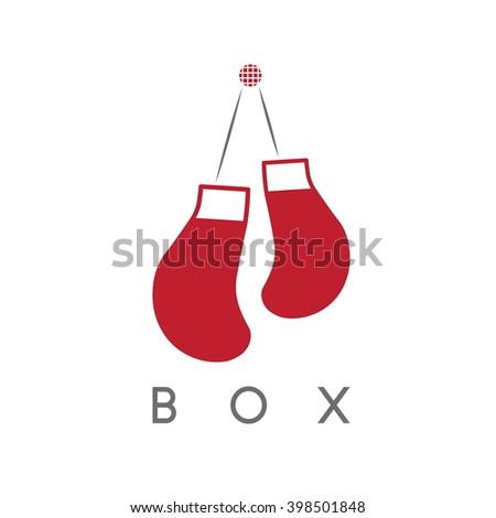 abstract icon vector design template boxing stock vector royalty