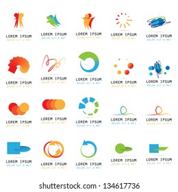 Abstract Icons - Set - Isolated On White Background - Vector Illustration, Graphic Design Editable For Your Design. Abstract Logo