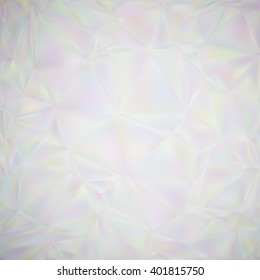 Abstract illusion of  pearl. Abstract background with iridescent mesh gradient. Colorful noise, special effect. Colorful shades. Vector EPS10