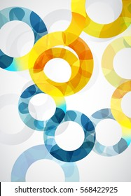 Abstract illustration background with circles.