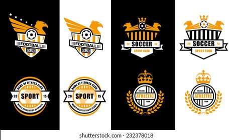 abstract illustration of badges set of logos, labels, concept ideas for sports clubs , college team