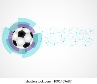 Abstract illustration with ball