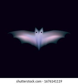 ABSTRACT ILLUSTRATION BAT GRADIENT COLOR. 3D LOGO DESIGN VECTOR