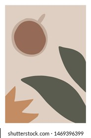 Abstract Illustration. Coffee Vector Poster.