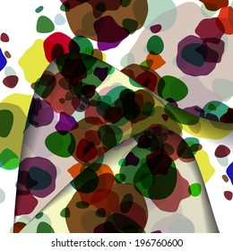 Abstract illustration, colorful unusual composition.