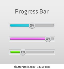 Abstract illustration of download progress bar. For using for sites, applications, etc.