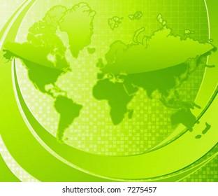 Abstract illustration of Earths. Vector illustration.