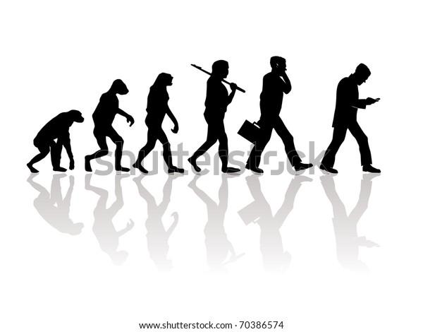 Abstract illustration of evolution
