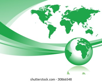 Abstract illustration with globe