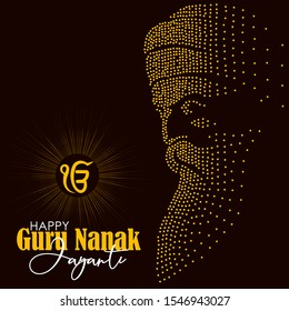Abstract illustration for happy guru nanak jayanti.