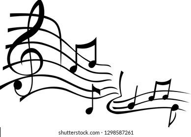 abstract illustration of music and musical status, violin key and graphic signs