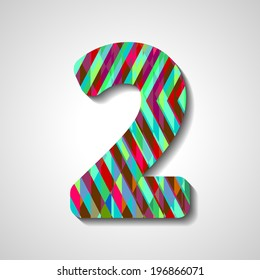 abstract  illustration, number collection - 2