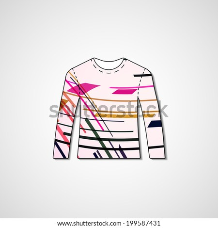 ed2df1f4c Abstract Illustration On Sweater Template Editable Stock Vector ...