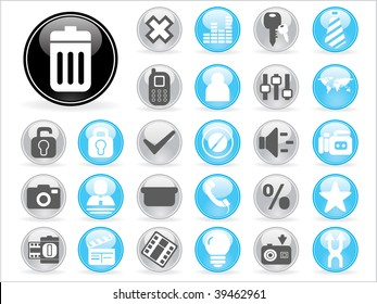 abstract illustration set of icons