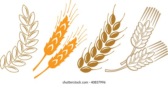 abstract illustration sign wheat