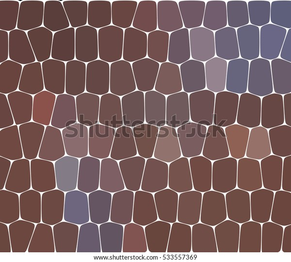 Abstract illustration of a stone wall, beige and brown