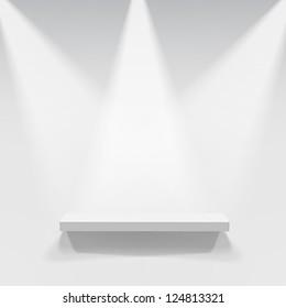 Abstract illustration of three spotlights