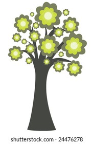 abstract illustration of a tree with lots of leaves