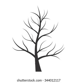 Abstract illustration - tree silhouette