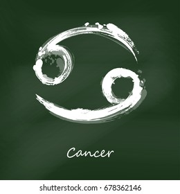 Abstract illustration of the zodiac sign Cancer. Zodiac icon. Astrology.