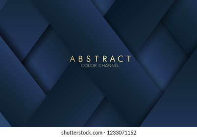 Abstract illustration.Abstract bright blue color strip  pattern luxury dark blue with gold Vector illustration design.Cool strip wave poster element. Modern bright colors.