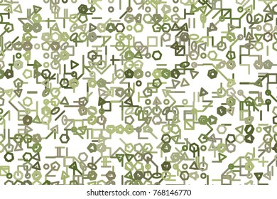 Abstract illustrations of line or shape, conceptual. Good for design background. Vector isolated on white.