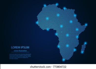 Imágenes, fotos de stock y vectores sobre Digital+african+map