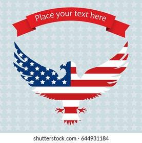 Abstract image of the American flag with an eagle