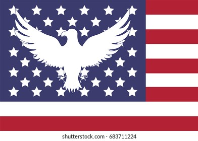 Abstract image of the American flag. Abstract eagle