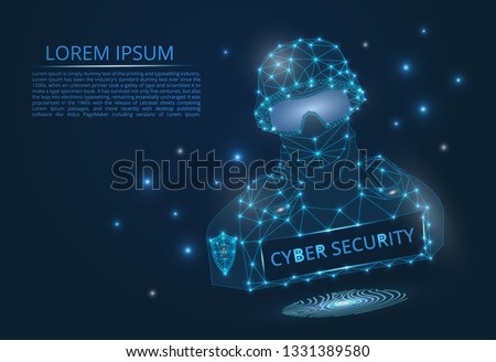Abstract Image Cyber Security Concept Illustrates Stock Vector