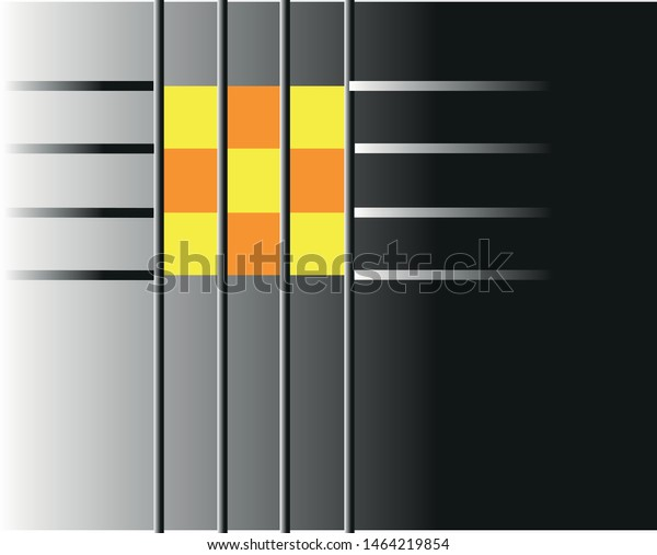 Abstract image of gold and yellow squares in a fading net.